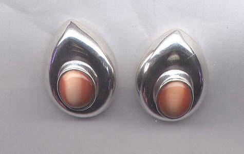 Goldstone & Sterling Silver Earrings