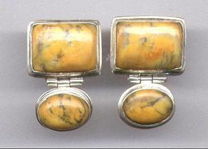 Jasper  & Sterling Silver  Earrings