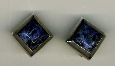 Lapis/Sodalite & silver earrings