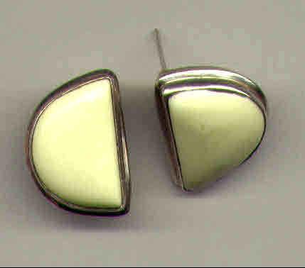 Lemon Stone & Sterling Silver Earrings