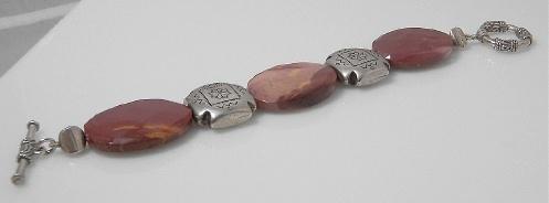 Mookaite & silver bracelet
