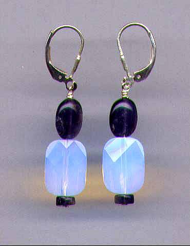 Opalite & Lolite  Earrings