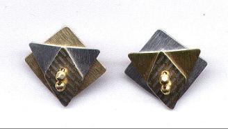 Silver  & Gold Metal  Earrings