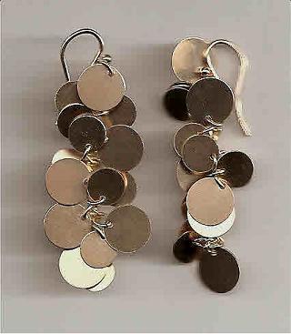 Vermeil Disk Earrings