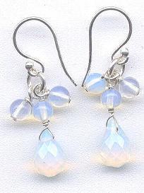 Opalite Briolet Handmade Earrings