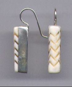 Carved Bone Earrings