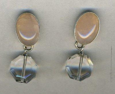 Rock Crystals & Rose Quartz Earrings