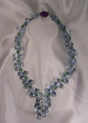 Swarovski Crystal & Lilac Quartz Necklace