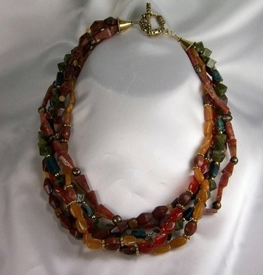 Autumn  Gemstone Necklace