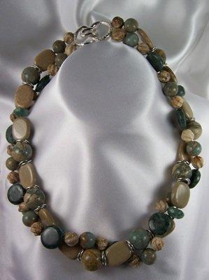 Jasper & Bloodstone Necklace