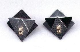 Black & Silver Modern Geometric Earrings