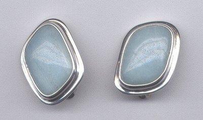 Amazonite & Sterling Silver  Gemstone Earrings