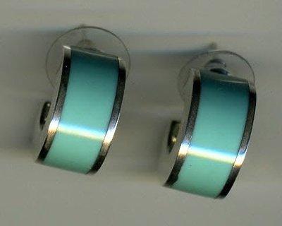 Turquoise howlite hoop earrings