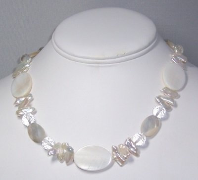Mother of Pearl & rock crystal nekclace
