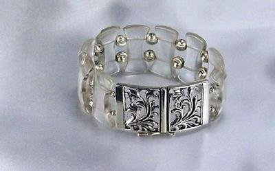 Lucite  And Silver Bracelet