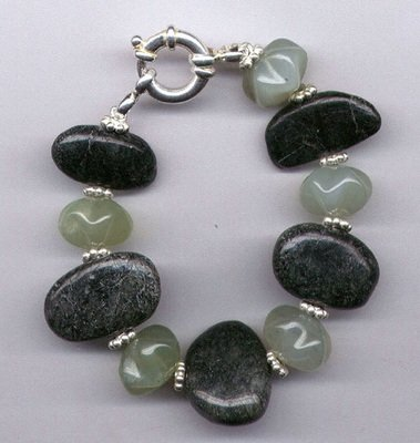 New Jade Blossom Gemstone Bracelet