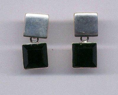 Black Onyx & Sterling Silver Earrings