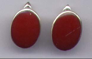 Carnelian Earrings With Sterling Silver
