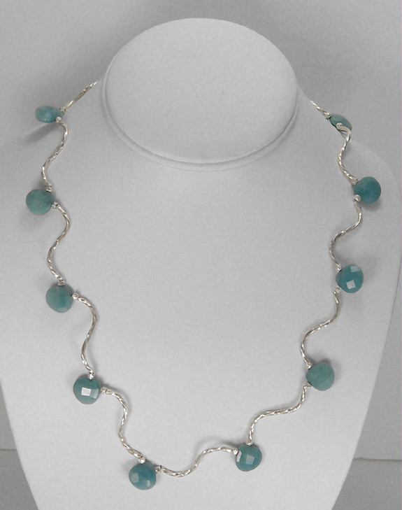 Amazonite & silver necklace