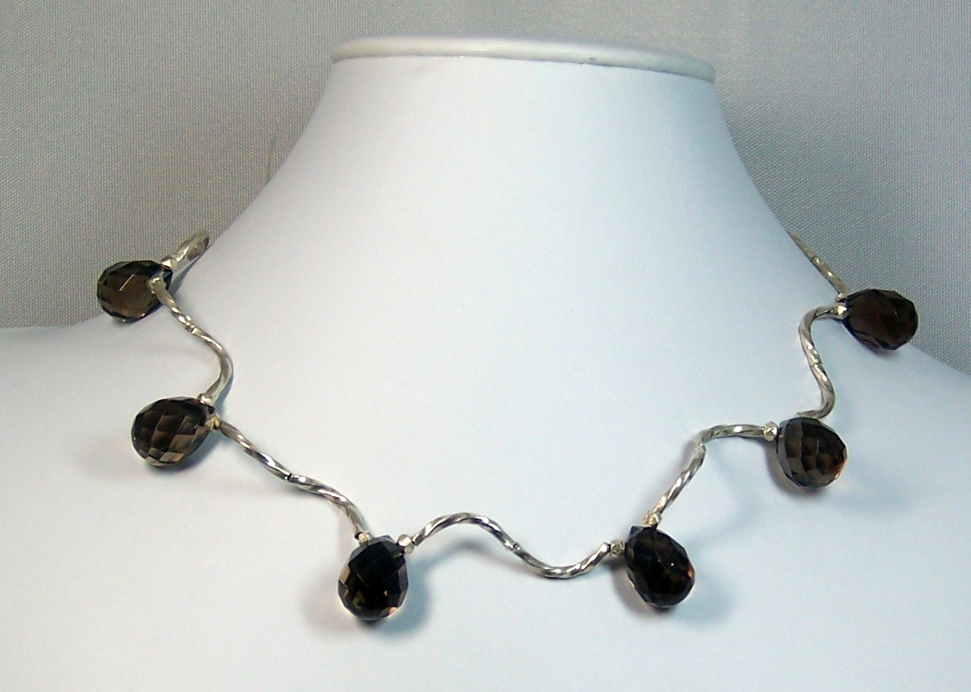 Silver & topaz necklace