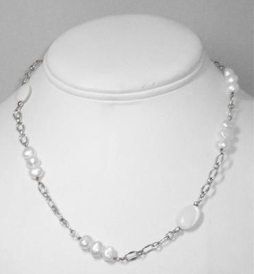 Sterling silver & pearl neckalce