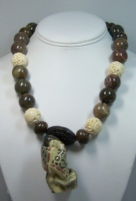 Jasper & Bronzite necklace