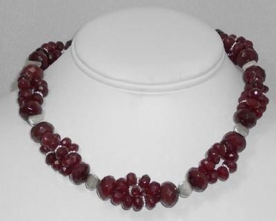 Cherry Quartz & Sterling Silver Designer Necklaces