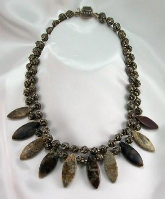 Jasper & Vintage Glass Necklace