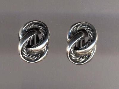 Silver figure eight earrings