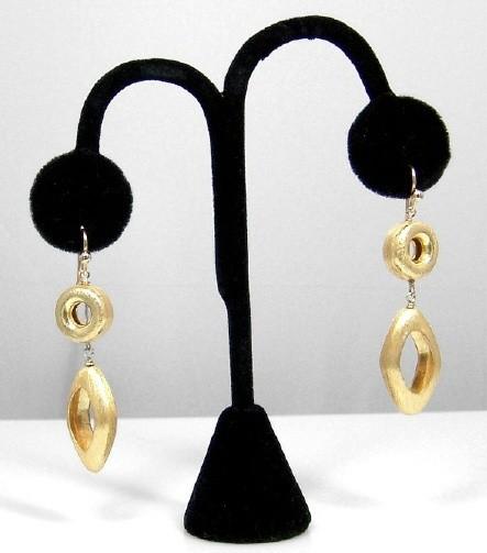 Vermeil drop earrings