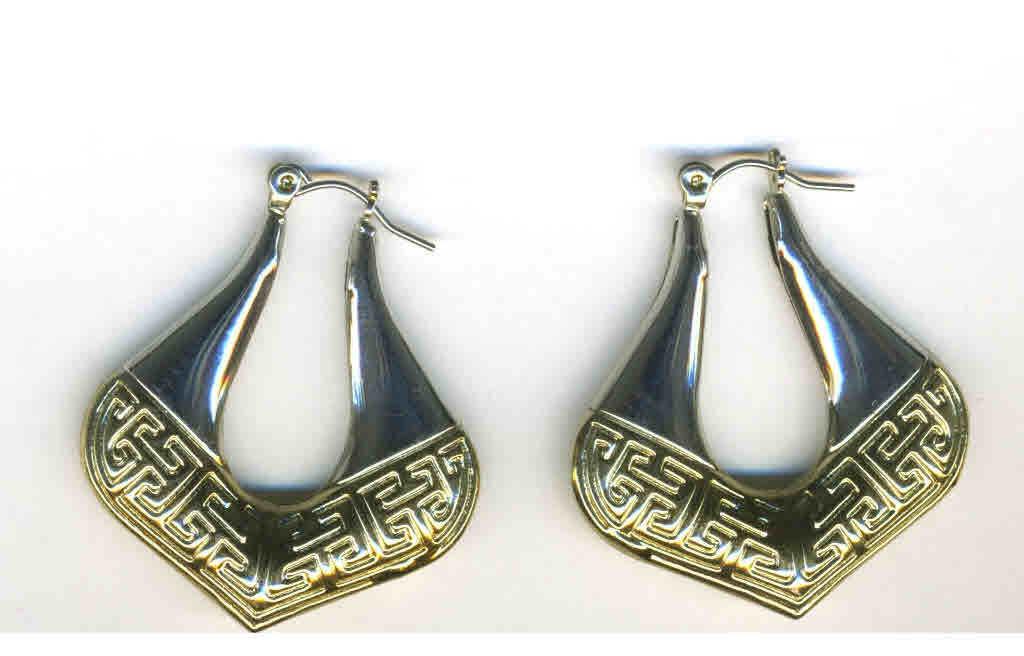Silver & gold hoop earrings