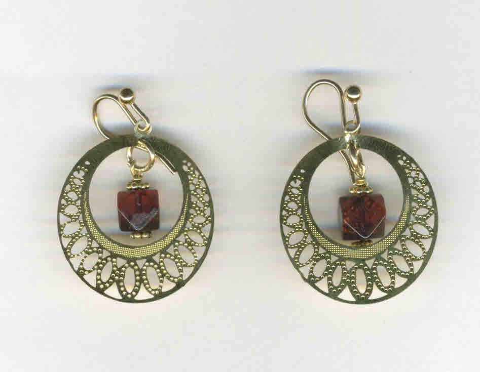Vermeil & Swarovski earrings