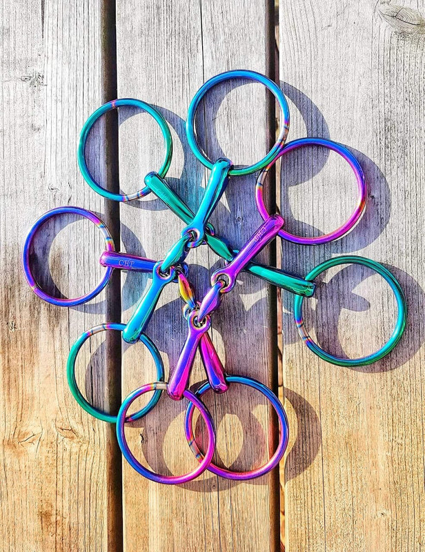 Loose Ring French Link Rainbow Bit