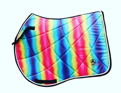 Rainbow Saddle Pad