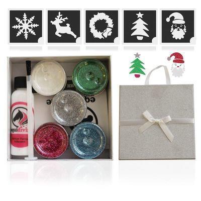 Christmas Glitter Quarter Mark Gift Set