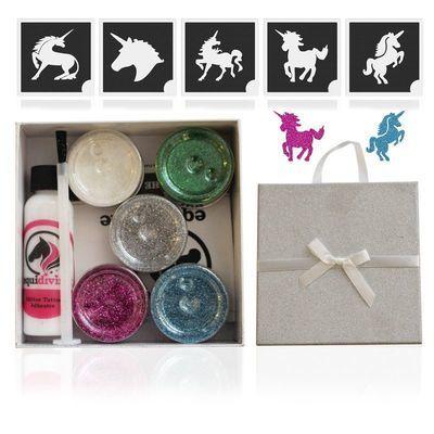 UNICORN Glitter Quarter Mark Gift Set