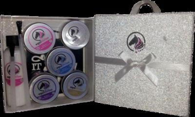 PINK RIBBON Glitter Quarter Mark Gift Set