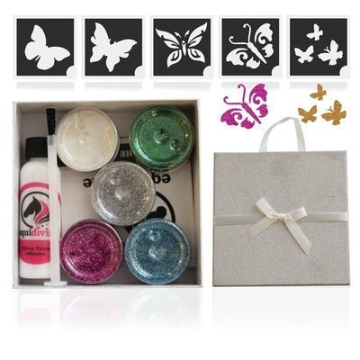 BUTTERFLY Glitter Quarter Mark Gift Set