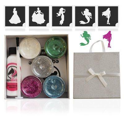 PRINCESS Glitter Quarter Mark Gift Set