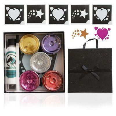 HEARTS & STARS Glitter Quarter Mark Gift Set