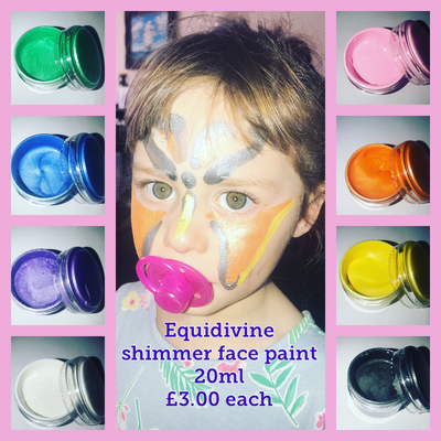 Equidivine face paint shimmer glitter 20ml