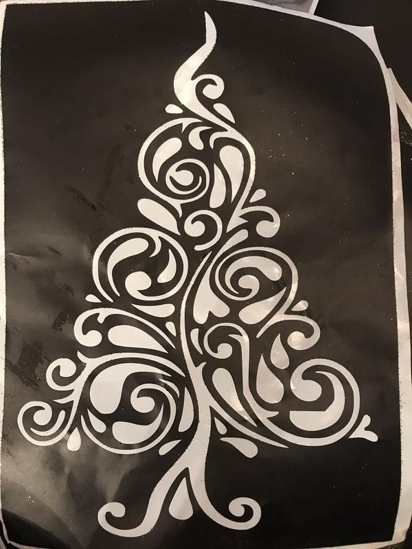 Christmas stencil tree