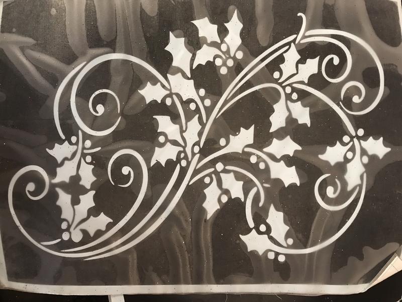 Christmas stencil