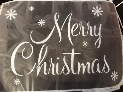 A4 Christmas stencil merry Christmas