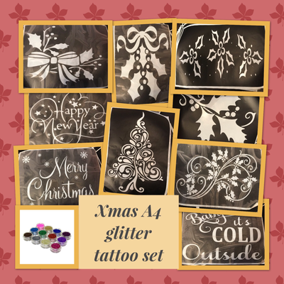 Glitter tattoo gift set large