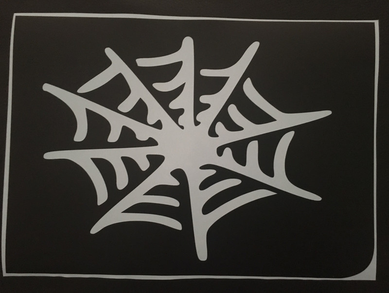 A4 spider web stencils pack of 3