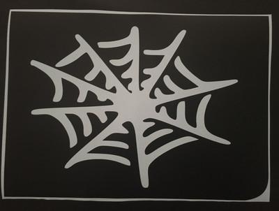 A4 spider web stencil