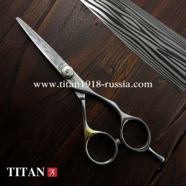 Профессиональные парикмахерские ножницы для стрижки волос Japan Damascus steel (Дамасская сталь), TITAN (Япония)