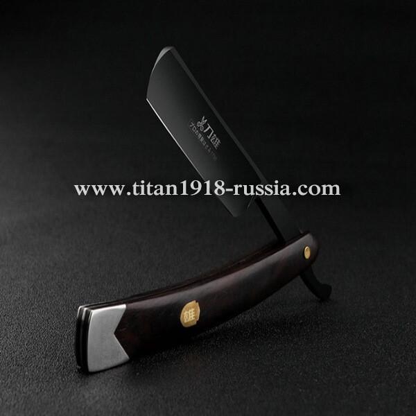 «Kamisori» (Камисори) - традиционная складная японская опасная бритва ручной работы с черным лезвием, Japan VG10-HZ