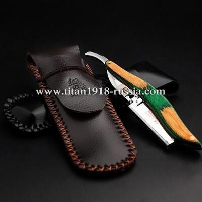 Кожаный эксклюзивный и оригинальный японский защитный чехол ручной работы для опасной бритвы и бритвы Shavette (шаветт).